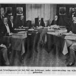 Eerste zitting van het Permanente Hof van Arbitrage onder voorzitterschap van Tobias Asser in 1901. Collectie Haags Gemeentearchief