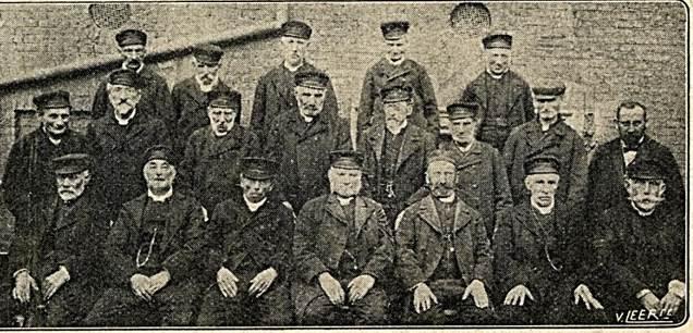 Israelitische Oude Mannen- en Vrouwenhuis mannelijke bewoners ca. 1910