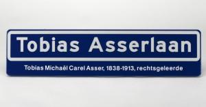 Naambord Tobias Asserlaan (Museon)