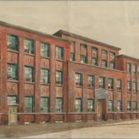 Joods Weeshuis ontwerptekening van Architectenbureau Simons & Van Braningen uit 1930 teruggekeerd uit Rusland - Archief Stichting Joods Weeshuis