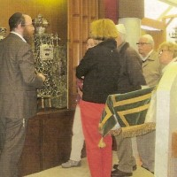 De synagoge van de NIG in de Cornelis Houtmanstraat kreeg veel bezoekers - foto collectie NIG