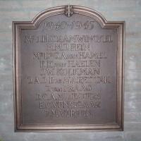 Herdenkingsplaquette in het Ministerie van Buitenlandse Zaken, onthuld op 4 mei 2015 - foto Sierk Plantinga