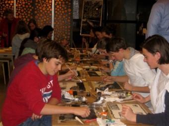 Les verzorgd door de Stichting Nooit Meer voor leerlingen van 3 VWO in het Maerlantlyceum op 30 januari 2014 in Het Museon