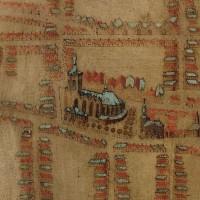 Grote of Sint Jacobskerk, detail van de plattegrond Den Haag in 1603 door H. van Groll -  collectie Haags Gemeentearchief