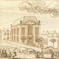 Portugese synagoge aan de Prinsessegracht - collectie Haags Gemeentearchief