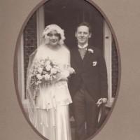 Trouwfoto Ida Rosenheimer en David Simons op 11 januari 1933 -  copyright erven Ida Simons