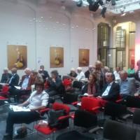 Op de Europese Dag van de Joodse Cultuur in Den Haag waren voor 12.00uur al veel belangstellenden aanwezig.