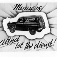 Advertentie met bestelauto van Mouwes, ca. 1960 - Collectie familie Mouwes