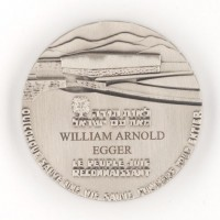 Yad Vashem-onderscheiding van William Arnold Egger uitgereikt op 18 september 2014 - collectie Wim Egger