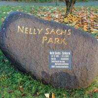 Gedenksteen in het Nelly Sachs Park in Berlijn - Wikimedia