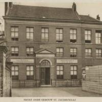 Azulai bezocht in de St. Jacobstraat 77, het woonhuis van de familie Boas; van 1839 -1929 was hier het Israëlitisch Oude Mannen- en Vrouwenhuis gevestigd - collectie Haags Gemeentearchief