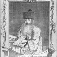 Saul Halevi, opperrabbijn van Den Haag, in 1764 - vervaardiger Abraham Isaak Polack (collectie Haags Gemeentearchief)