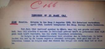 Verslag verhoor Maurits Kiek als Engelandvaarder in Londen in 1943 -  NIOD