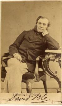 Kunstschilder David Bles, omstreeks 1870 - foto Mauritz Verveer