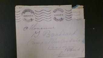 Brief aan Ies Bachrach in werkkamp in het werkkamp voor Joodse vluchtelingen in het Zwitserse Cossonay, oktober 1942