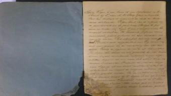 Schrift met aantekeningen van Ies Bachrach over zijn vlucht van Nederland naar Zwitserland in september 1942