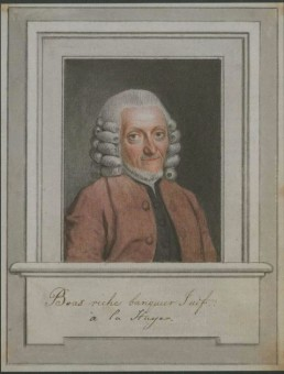 Portret van Tobias Boas door Benjamin Samuel Bolomey, collectie Musée historique de Lausanne