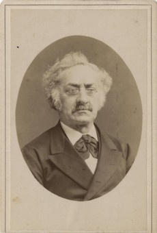 Isaäc Belinfante(1814-1892), journalist, boekhandelaar, boekdrukker en uitgever, mede-oprichter van het Correspondentiebureau - foto van ca. 1880, fotograaf J. Hohmann