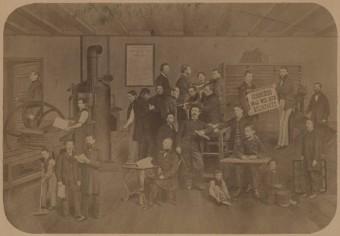 Drukkerij Belinfante aan de Paviljoensgracht 17, omstreeks 1870 - fotocollectie Haags Gemeentearchief