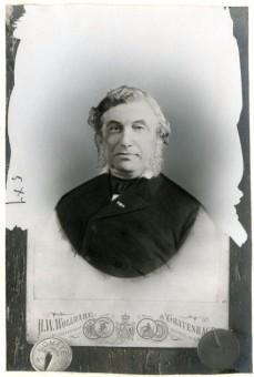 Mr. Daniël Polak Daniëls, gemeenteraadslid van 1854-1899 - foto H.W. Wollrabe