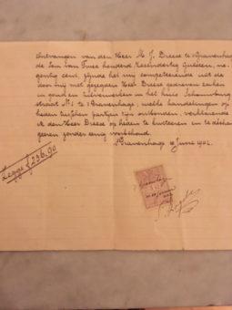 Factuur uit 1902 van diamantslijper Meijer Dreese - collectie familie Dreese