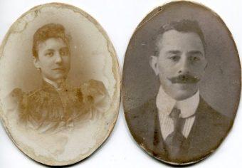 Meijer Dreese en Duifje Dreese-Schuijer, omstreeks 1900 - foto familie Dreese